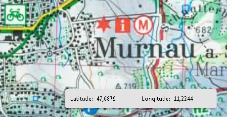 Screenshot: map displayed in Acrobat with latitude and longitude